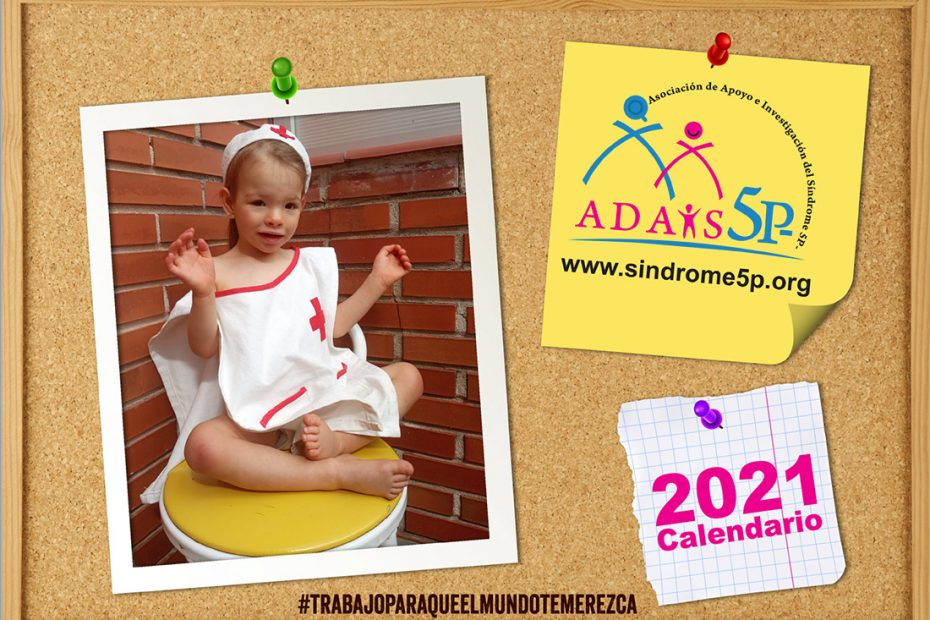 Calendario solidario 2021 sindrome 5p